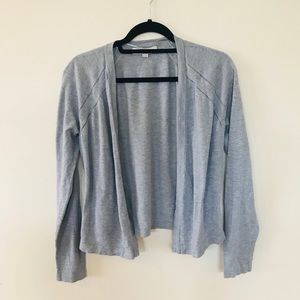 Loft | Grey Shrug Open Cardigan Medium